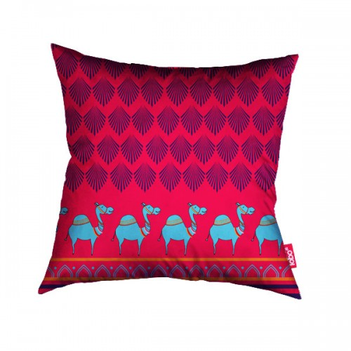 Pink Camel Parade cushion cover