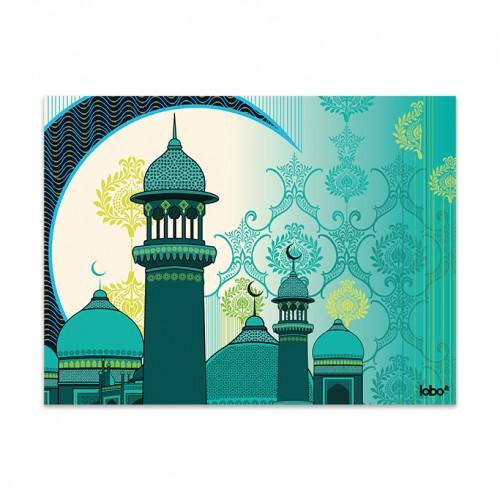 Mosque & Lantern Wall Art