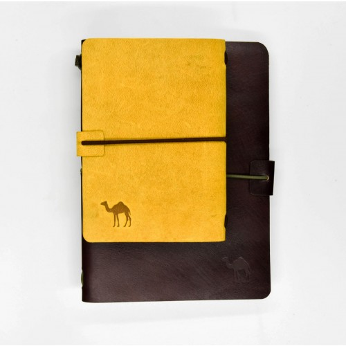 Custom Camel Leather Refillable Journal