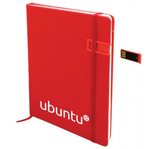 PU leather notebook with USB
